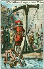 Baeckertaufe  Baecker wird oeffentlicht bestraft  um 1580