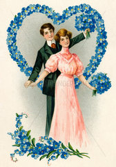 Liebespaar  Verlobung  um 1907
