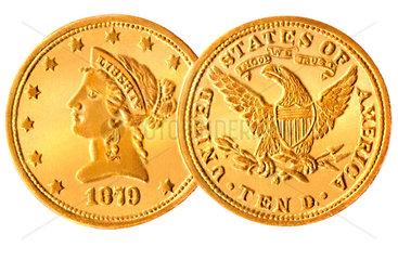 10 Dollar  Goldmuenze  1879