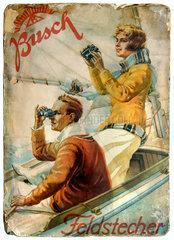Werbeplakat Busch Feldstecher  um 1913