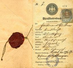 Dienstbotenbuch  1895
