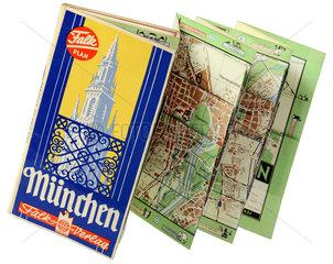 Falk Stadtplan Muenchen  um 1954