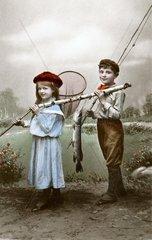 Angler  um 1917