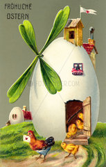 Froehliche Ostern  Postkarte  1911