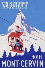 Kofferaufkleber  Schweiz  1959