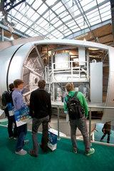 Hannover  Deutschland  Enercon Windkraftanlage auf der Industriemesse Hannover