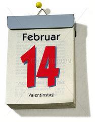 Kalender  14. Februar  Valentinstag