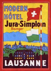 Kofferaufkleber  Schweiz  1932