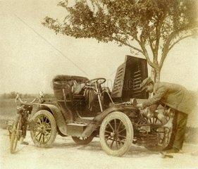 Autopanne um 1904