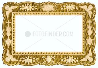 kleiner goldener Papierrahmen  1894