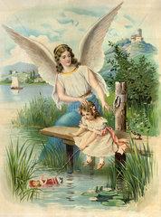 Schutzengel behuetet Kind