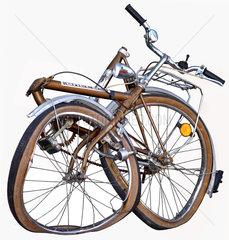 geklautes und zerstoertes Fahrrad