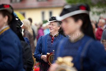 Glottertal  Deutschland  Frauen in traditioneller Tracht an Fronleichnahm
