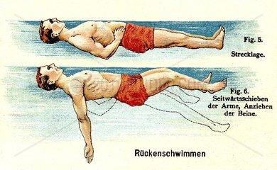 Rueckenschwimmen  um 1902