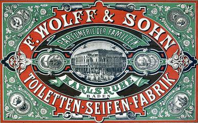 Seifen-Werbung  um 1885
