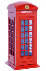 klassische britische Telefonzelle  Modell
