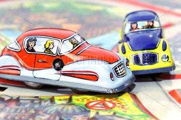 Autounfall  Modellautos  50er Jahre