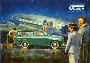 Autowerbung Goliath Kombi 1952