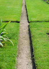 Landscaping  pathway through grassy sections