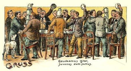 Studentenverbindung bei Feier 1898