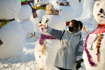 CHINA-HARBIN-SNOWMAN (CN)