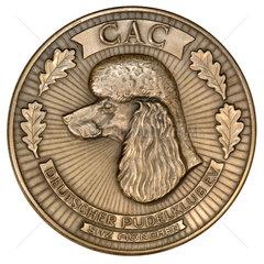 Medaille  Auszeichnung fuer Pudel  Pudelzuechter  1970