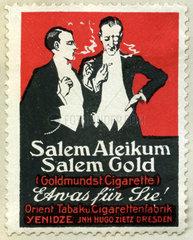 Zigarettenwerbung Salem Aleikum  Tabakwerbung  1913