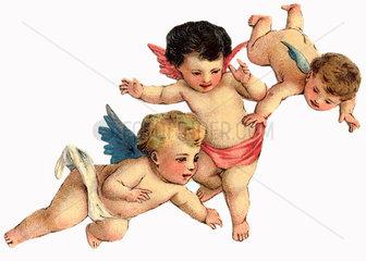 drei Engelchen  um 1900