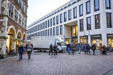 Muenster - Strassensperren waehrend des Weihnachtsmarkts