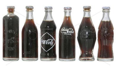 Entwicklung der Coca Cola Flasche  von 1894 bis 1926