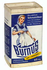 Burnus Waschmittel  Packung  um 1959