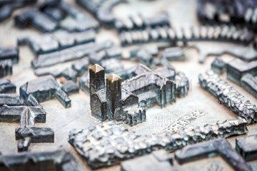 Tastmodell der Innenstadt von Muenster