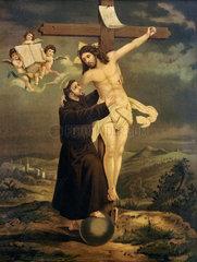 Heiliger Franziskus von Assisi  Wundmale Christi  um 1880