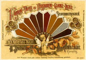 Werbung fuer Fusboden-Lacke  um 1879