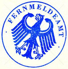 alter Stempel Fernmeldeamt  1963