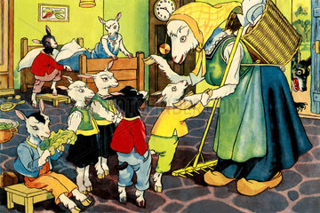 Der Wolf und die sieben Geisslein  Maerchen  um 1935