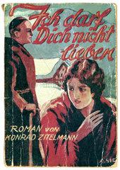 Buchtitel  Frau liebt Priester  Symbol Zoelibat  1929