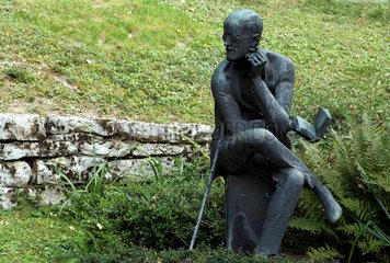 Zuerich  Schweiz  das Grab des Schriftstellers James Joyce
