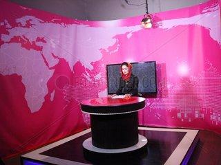 AFGHANISTAN-KABUL-TV STATION-WOMAN