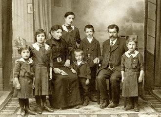 kinderreiche Familie  Kempten  1900