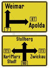 DDR Verkehrsschilder  um 1962