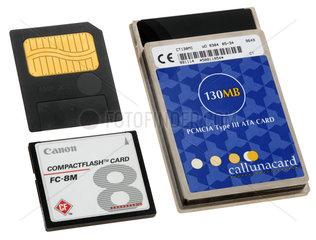 die ersten Speicherkarten fuer Digitalkameras  1995-1997