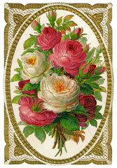 Rosenstrauss  Poesiebild  um 1887