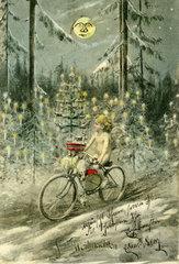skurrile Weihnachtskarte  1903