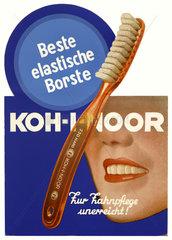Werbung fuer Zahnbuersten  1932