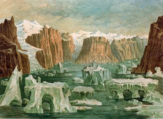 Polarlandschaft  Groenland  um 1900