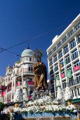Sevilla  Spanien  ein Prozessionswagen mit einer Marienstatue
