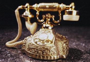 Hamburg  Deutschland  goldenes Telefon