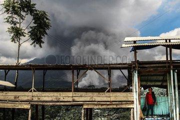 INDONESIA-NORTH SUMATERA-VOLCANO-MOUNT SUNABUNG