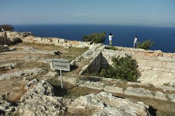 Vouni  Tuerkische Republik Nordzypern  die Ausgrabungsstaette Vouni